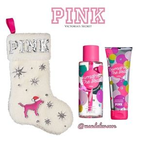 💕VS PINK SHERPA STOCKING BEAUTY BUNDLE